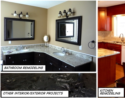 Competitive Price, This Picture Shows A Beautiful Kitchen With Granite  Countertop, An Elegant Bathroom With Granite Vanity